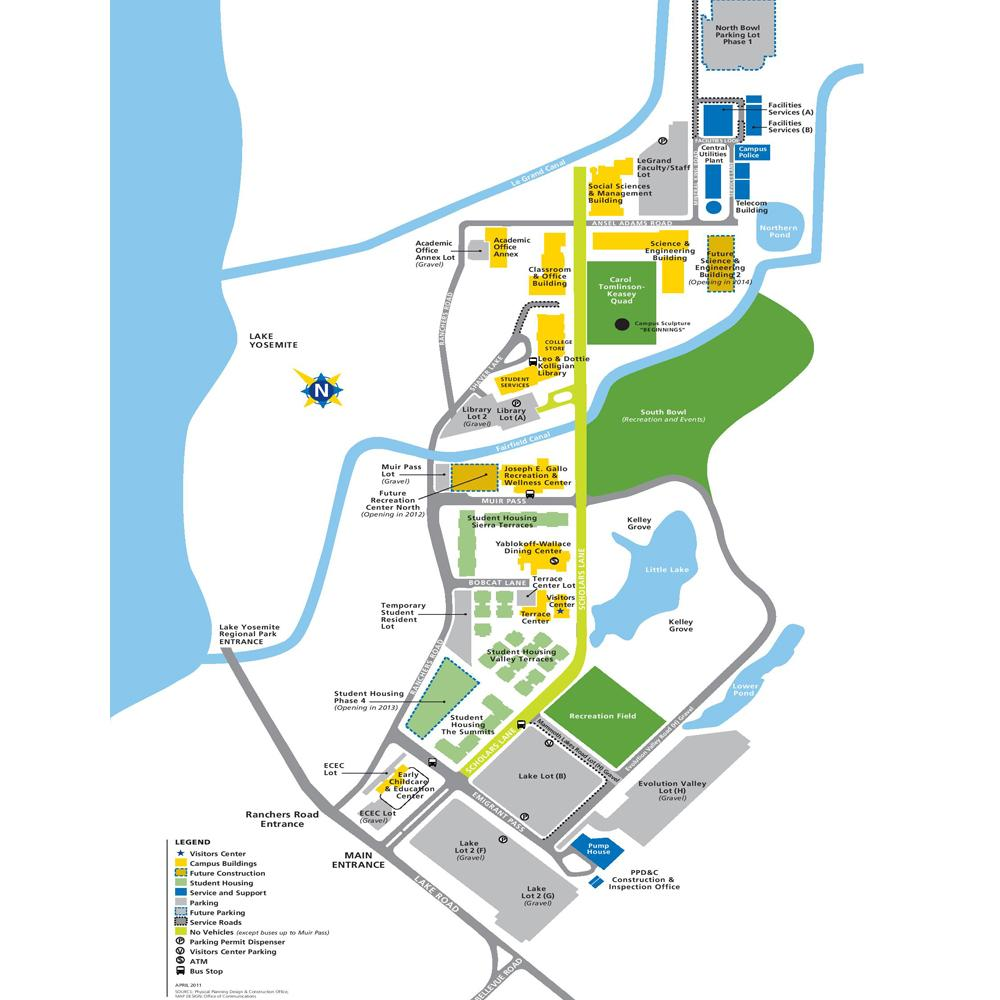 ANDES Lab UC Merced Campus Map